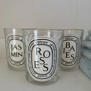 Diptyque Candle Jars - Rose, Jasmine & Baies